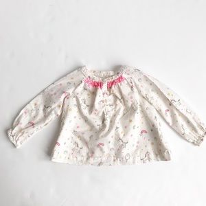 Baby Gap unicorn long sleeve top EUC 18-24 months